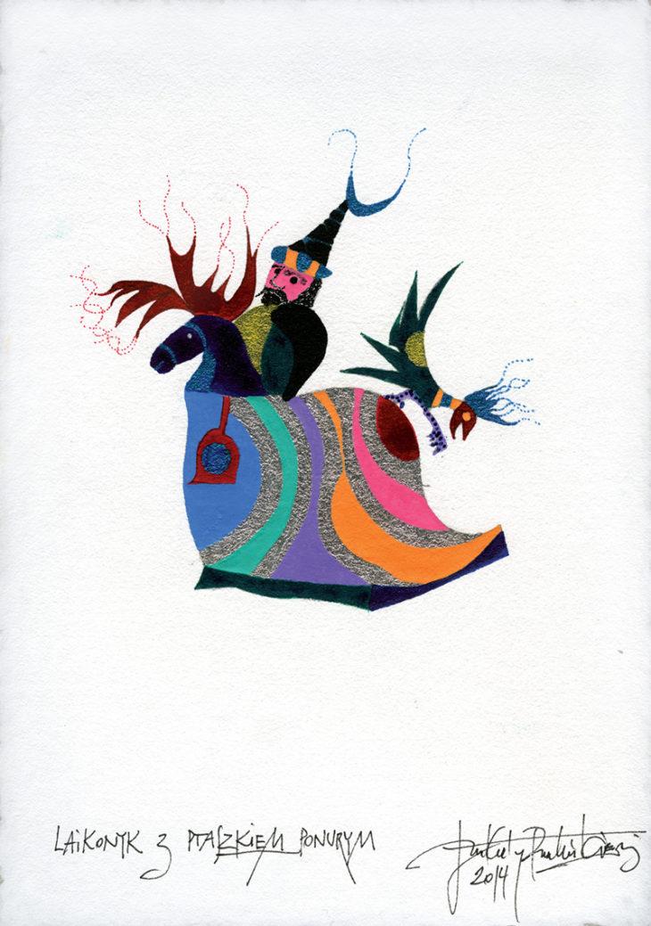 Heavenly Lajkonyk with a dark bird